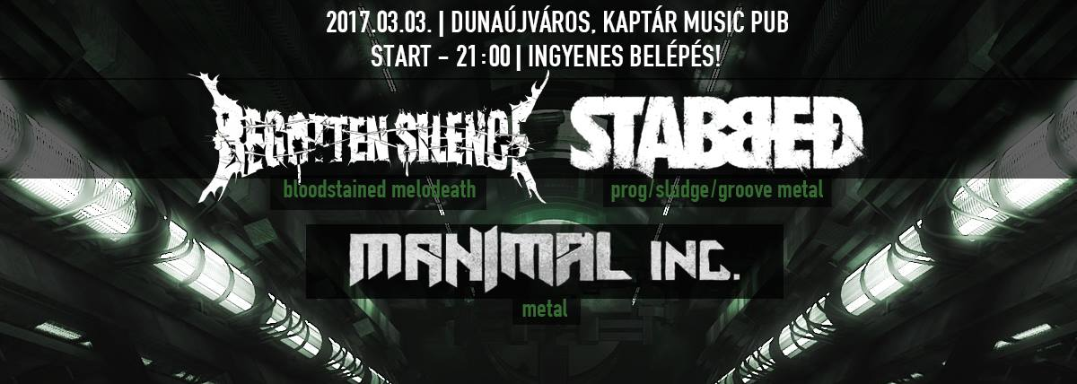 Stabbed, Begotten Silence, Manimal Inc. koncert