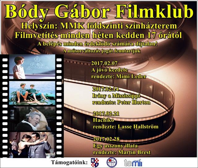 Bódy Gábor Filmklub februári műsora