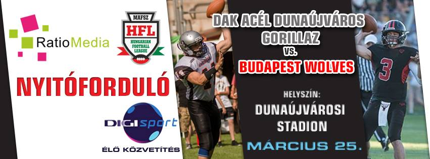 DAK Acél Dunaújváros Gorillaz - Budapest Wolves