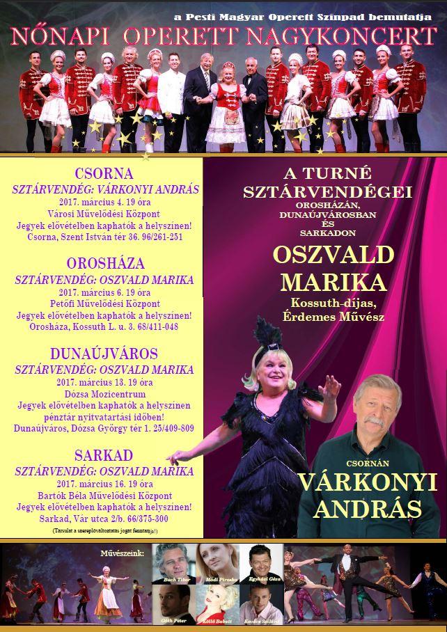 Nőnapi Operett Nagykoncert
