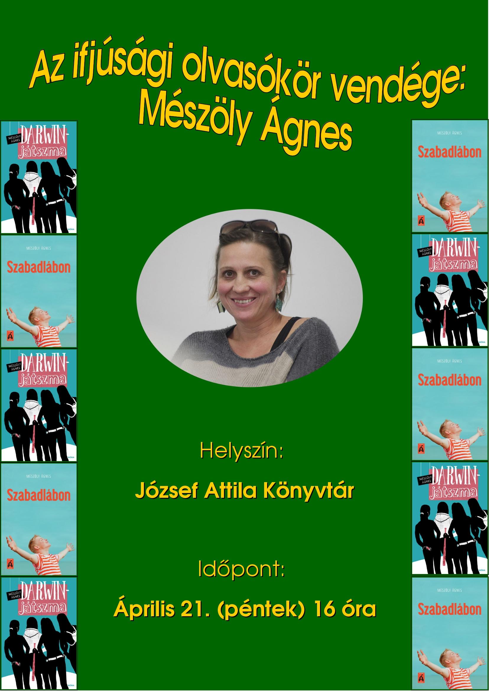 Az ifjúsági olvasókör vendége: Mészöly Ágnes