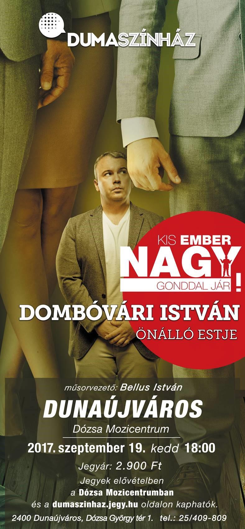 Dombóvári István önálló estje Dunaújvárosban!
