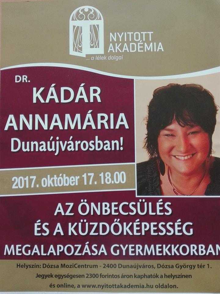 Dr. Kádár Annamária Dunaújvárosban!
