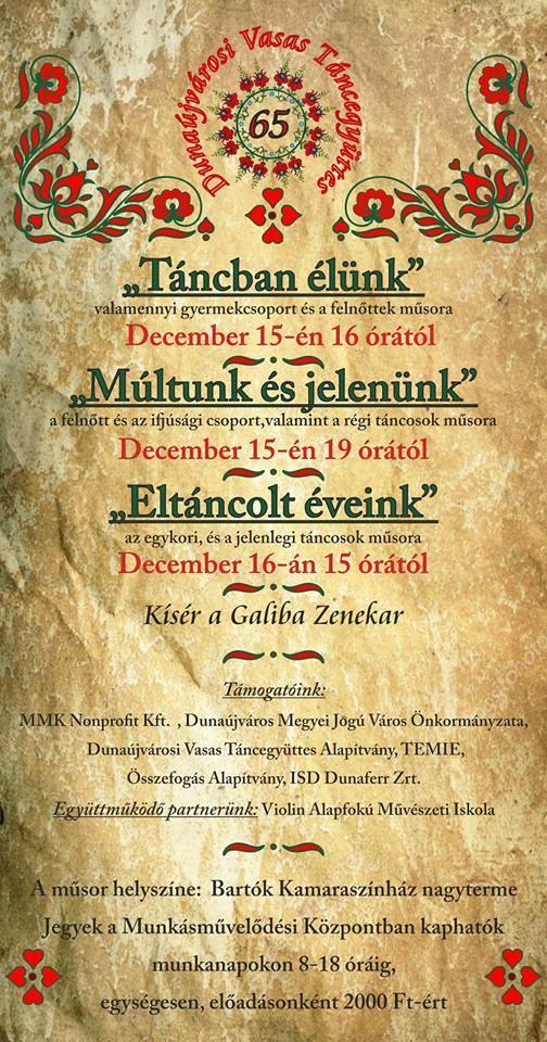 Dunaújvárosi Vasas Táncegyüttes jubileumi műsora