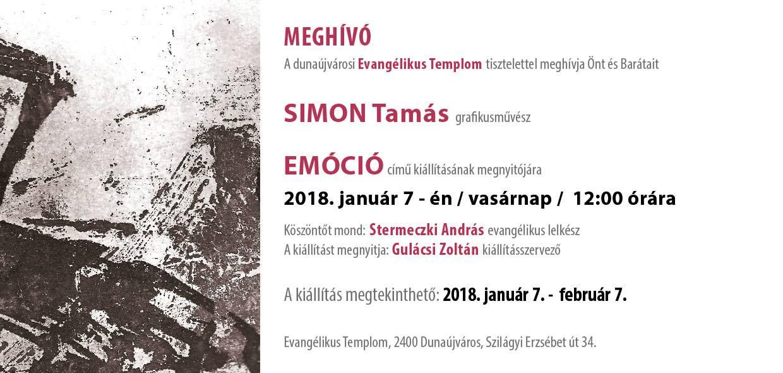 SIMON Tamás grafikusművész kiállítása