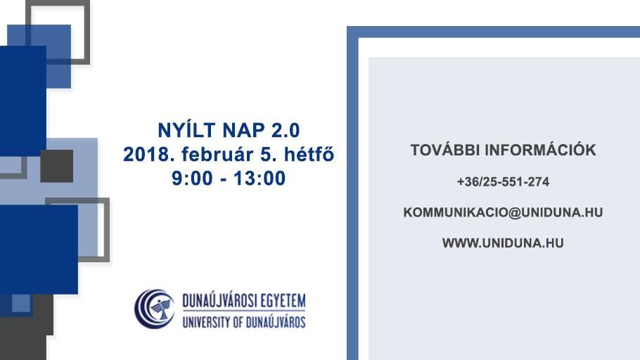 b31c7d0931 DUE Nyílt Nap 2.0 | Dunaújváros Online