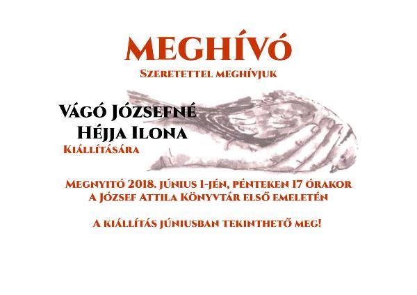 Emlékkiállítás Vágó Józsefné Héjja Ilona alkotásaiból