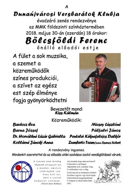 Bölcsföldi Ferenc önálló estje
