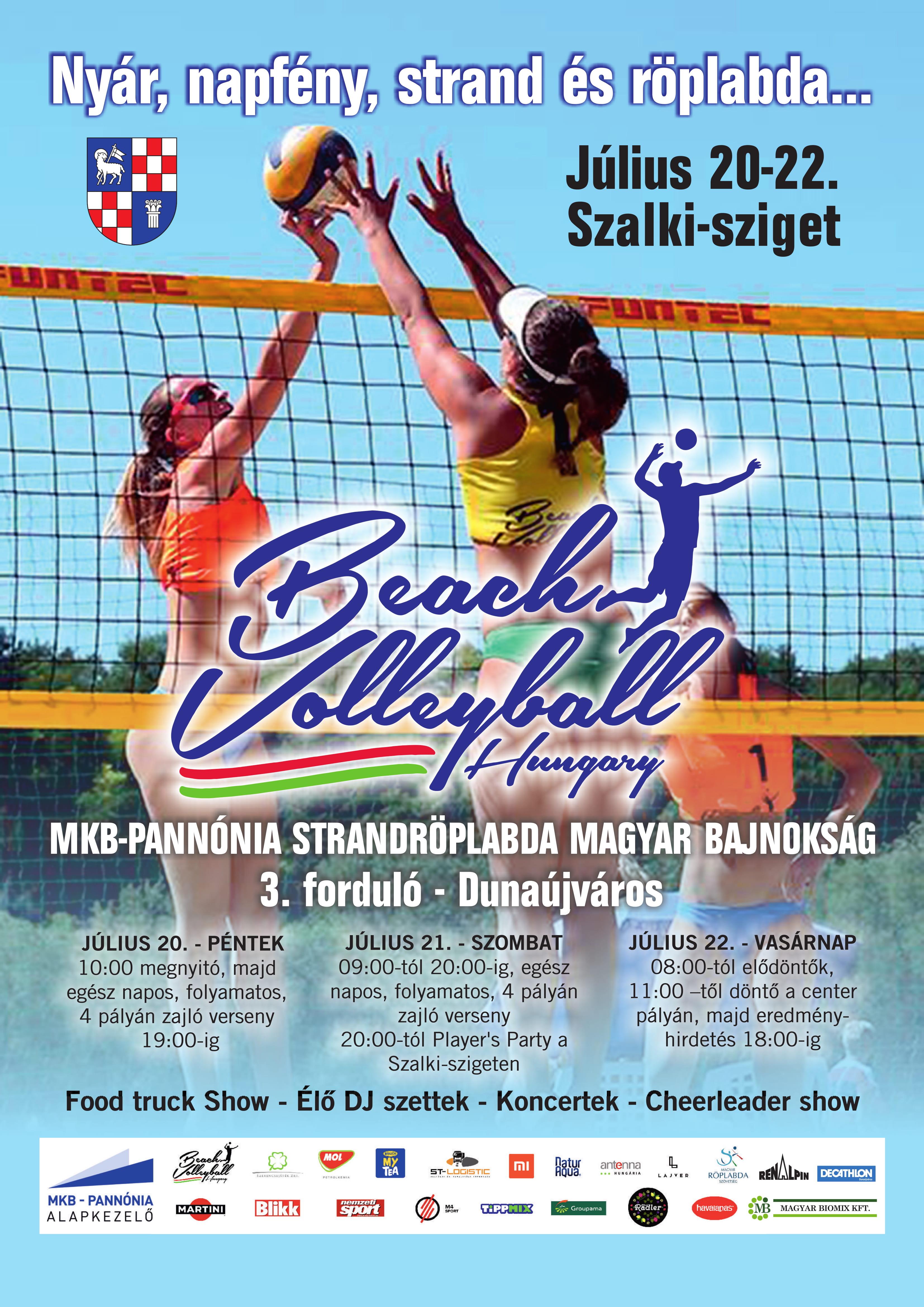 Strandröplabda Magyar Bajnokság Dunaújvárosban