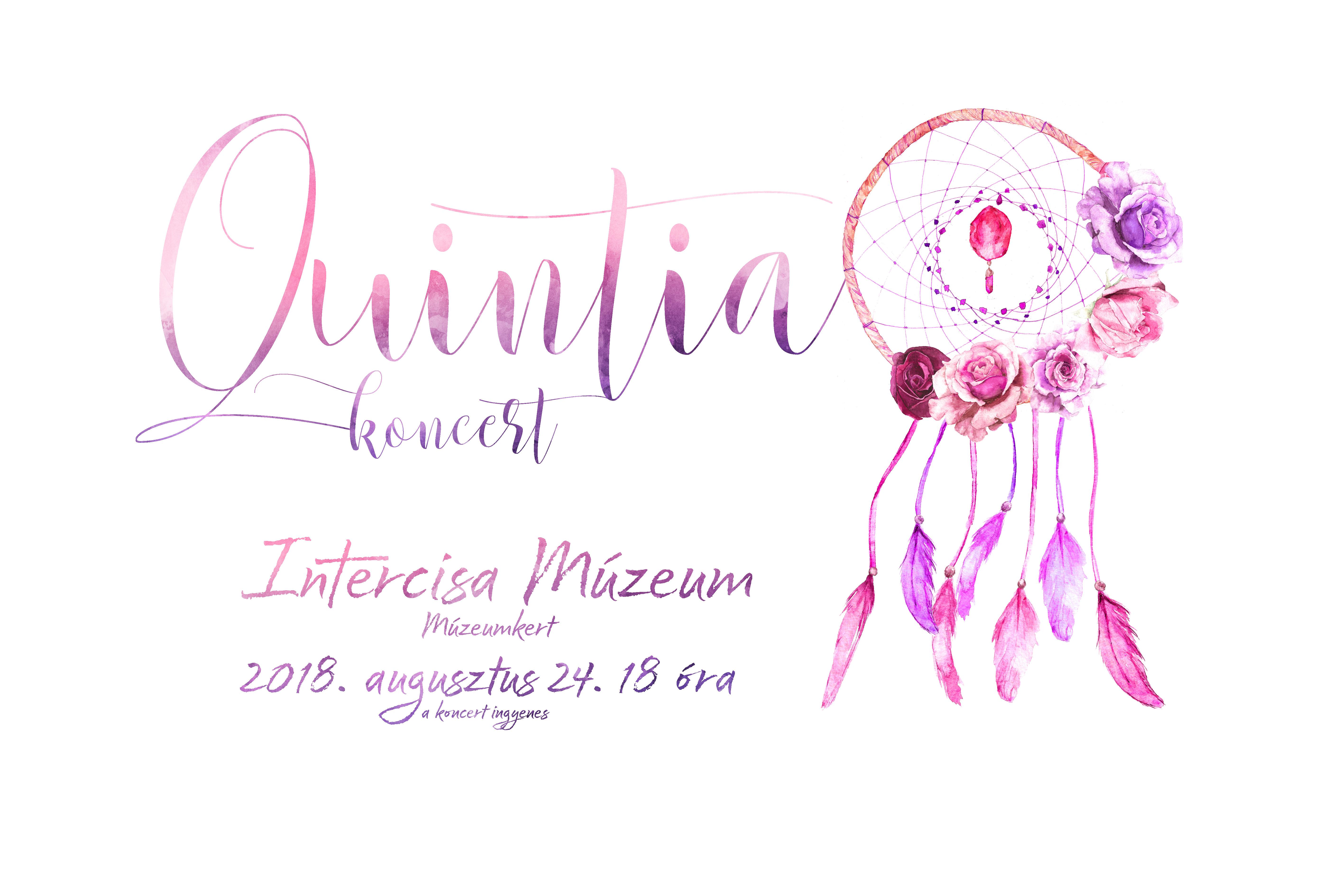 A QUINTIA ZENEKAR koncertje a Múzeumkertben
