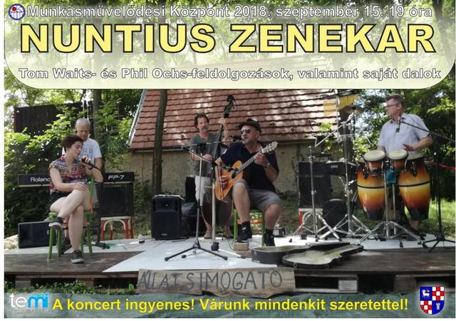 Nuntius Zenekar koncertje