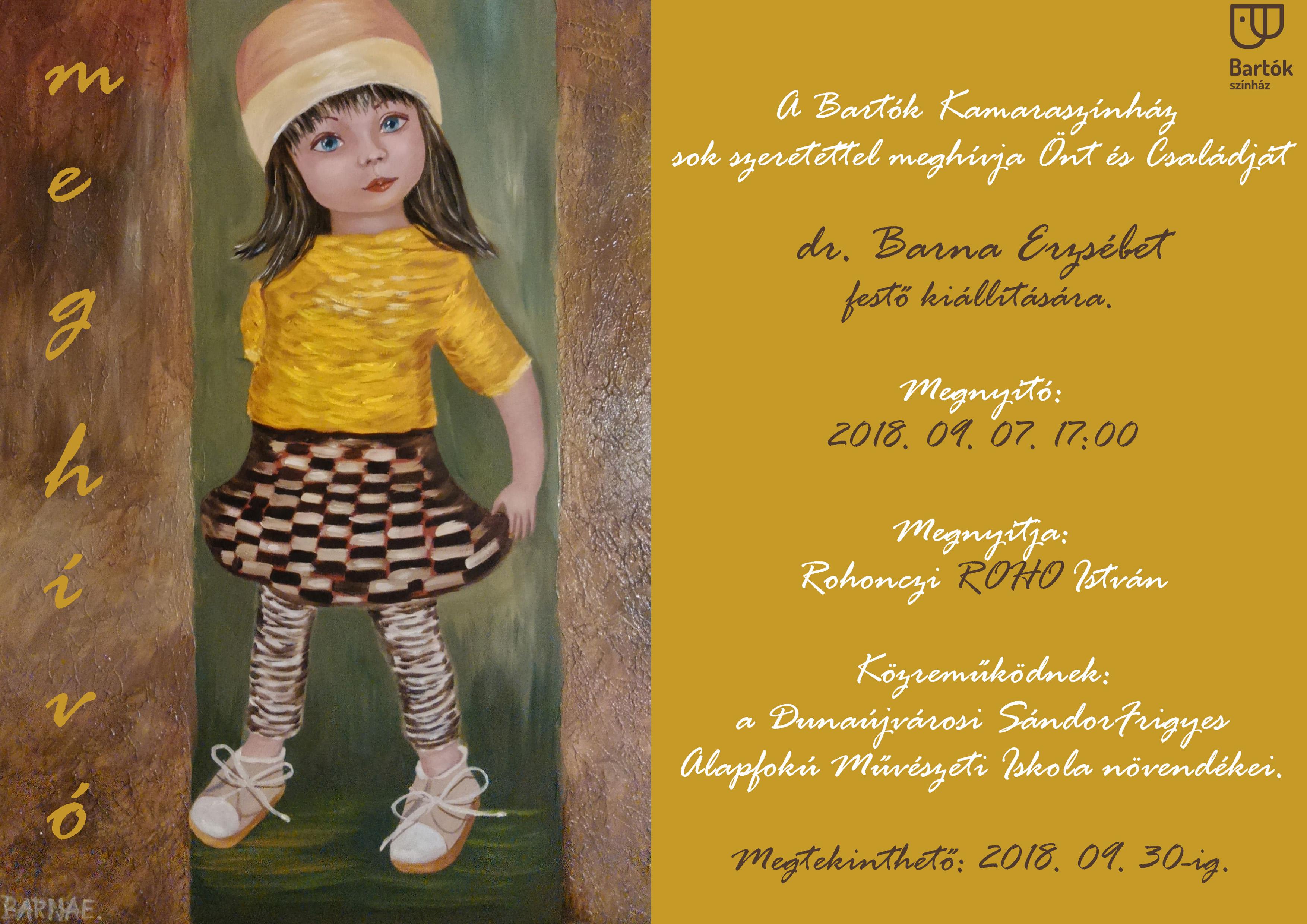 Dr. Barna Erzsébet festő kiállítása
