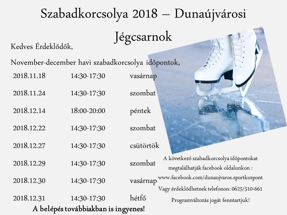 Szabadkorcsolya 2018