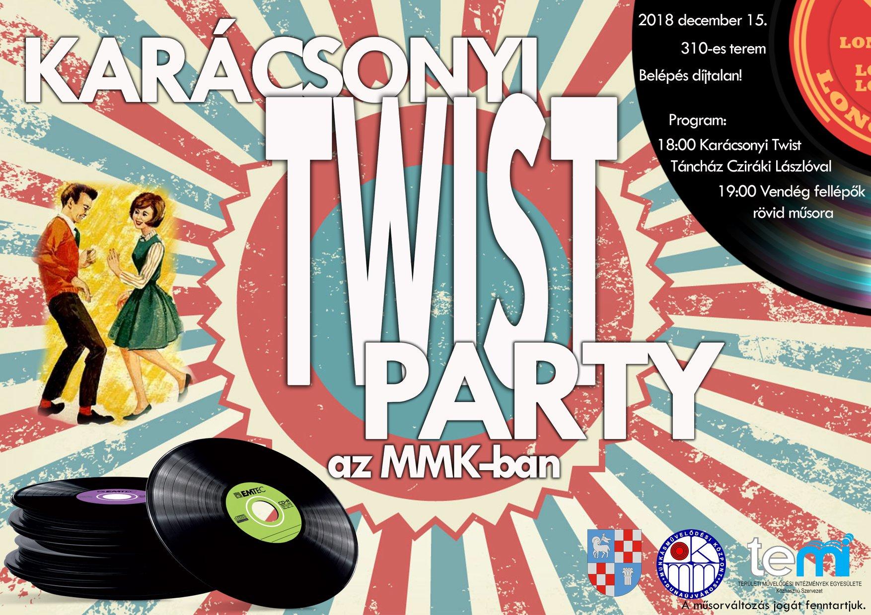 Karácsonyi Twist Party az MMK-ban