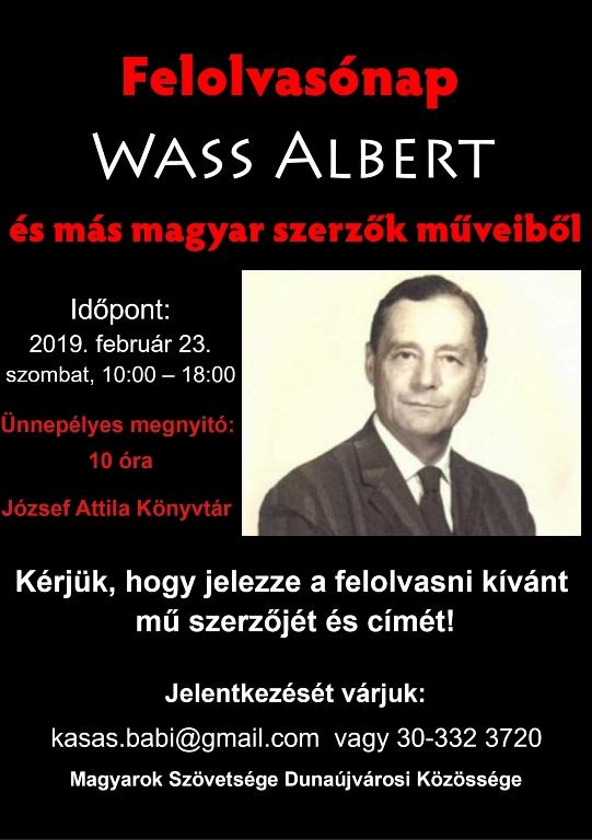 Felolvasónap WASS ALBERT és más magyar szerzők műveiből