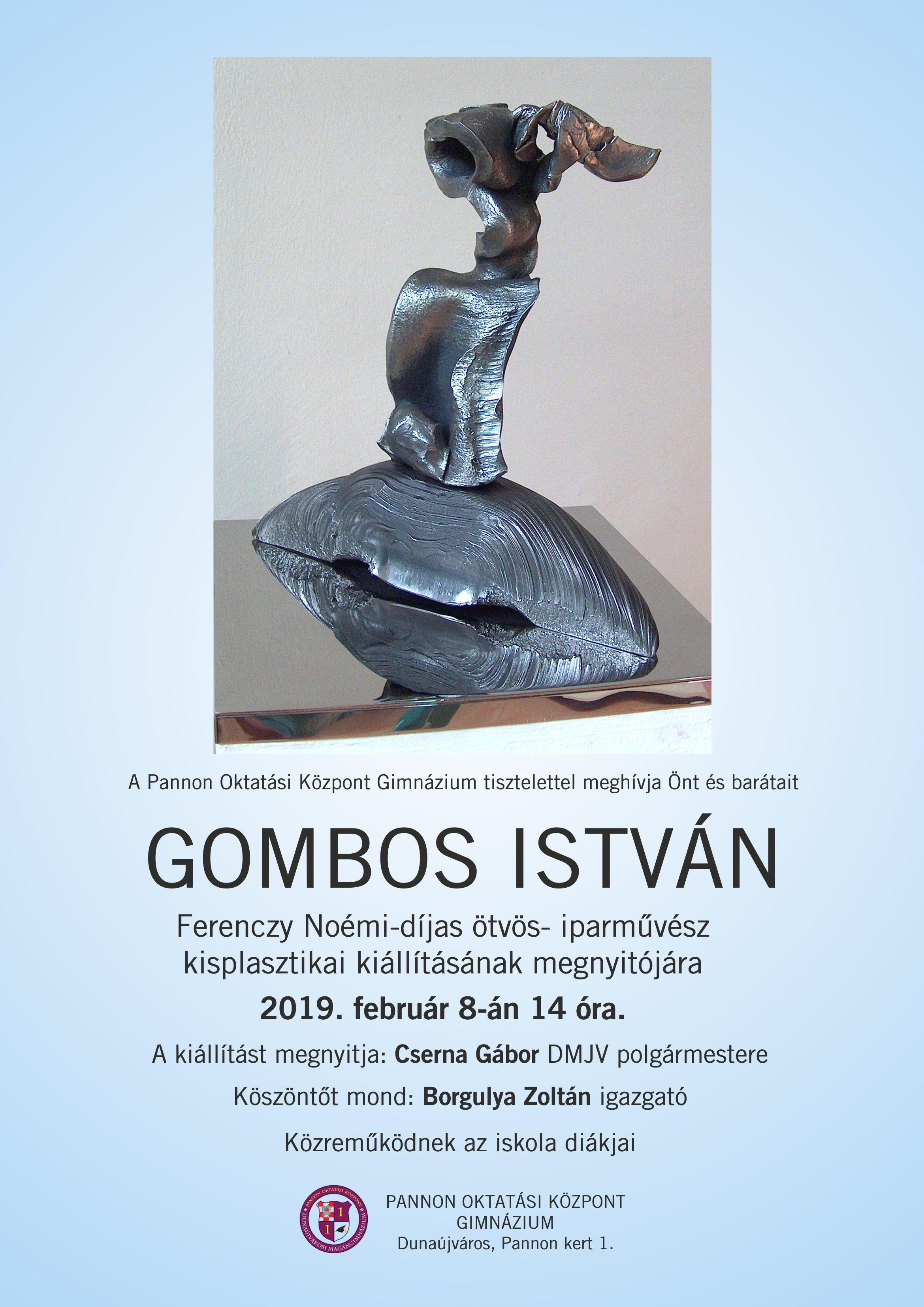 Gombos István kisplasztikai kiállítása