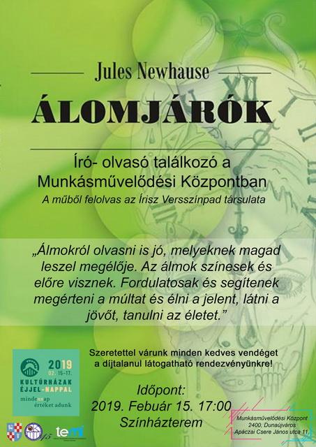 Író- olvasó találkozó Újvári Gyulával és az Álomjárók kötetével