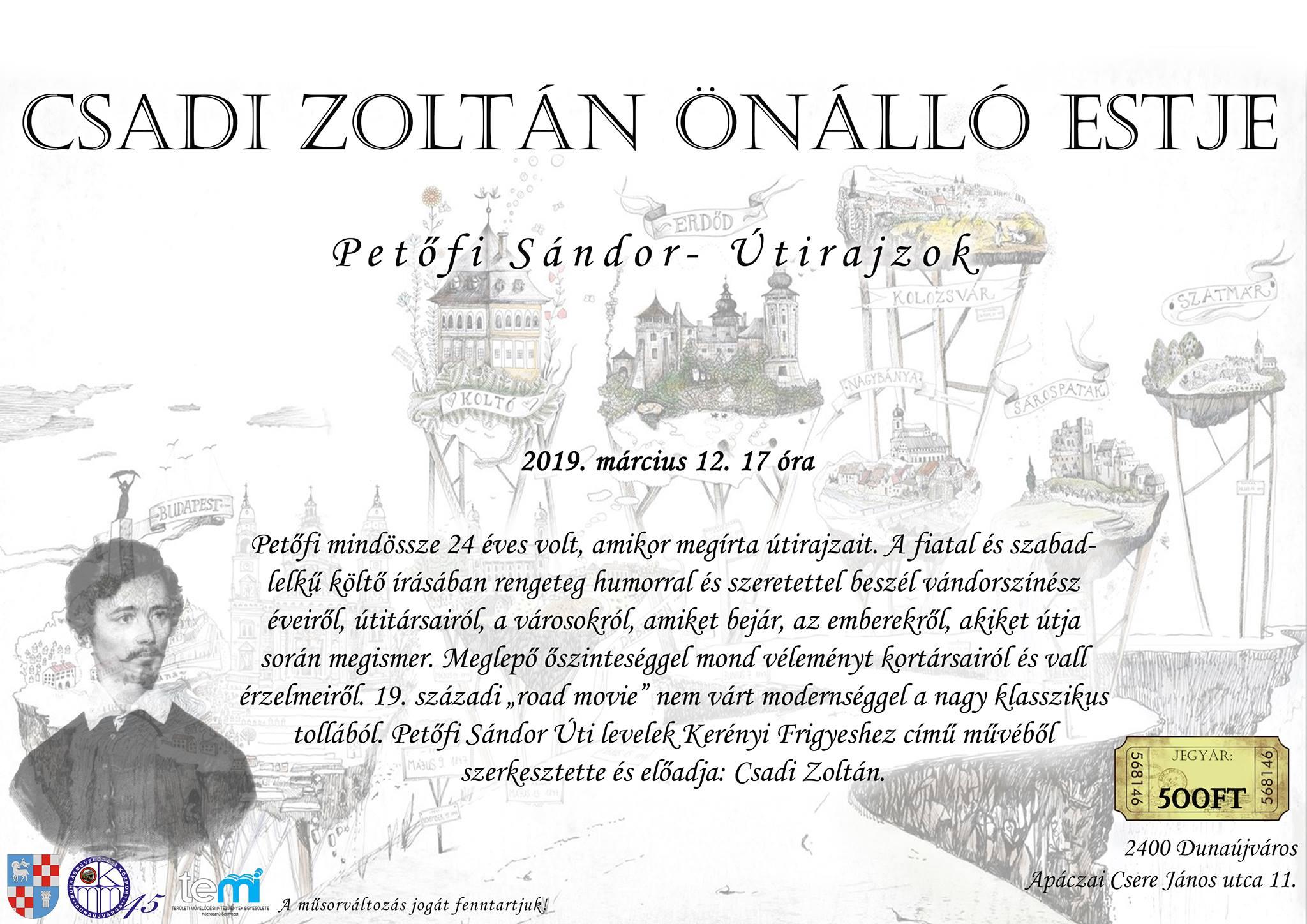 Csadi Zoltán önálló estje