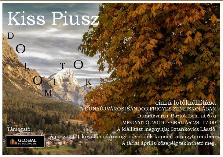 """Kiss Piusz """"Dolomitok"""" című fotókiállítása"""