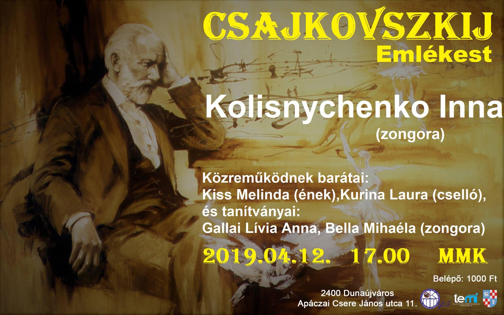 Csajkovszkij emlékest az MMK-ban!