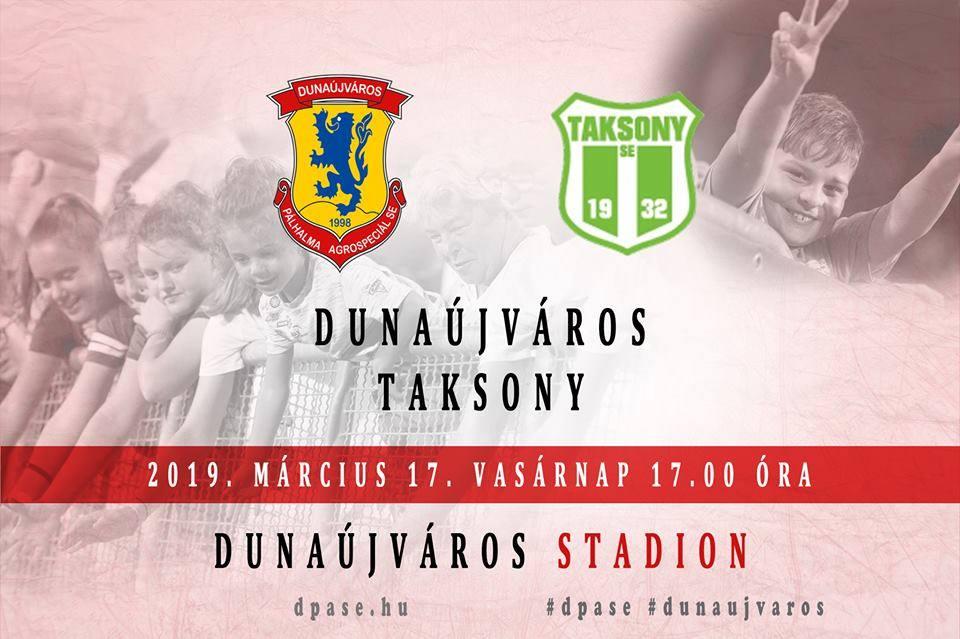 Dunaújváros - Taksony labdarúgó mérkőzés