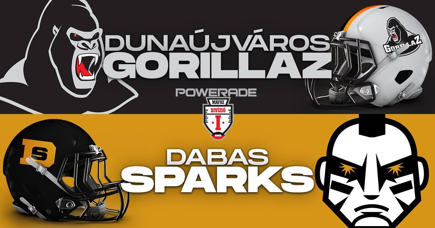 DAK Acél Gorillaz - Dabas Sparks Amerikai Futball Mérkőzés