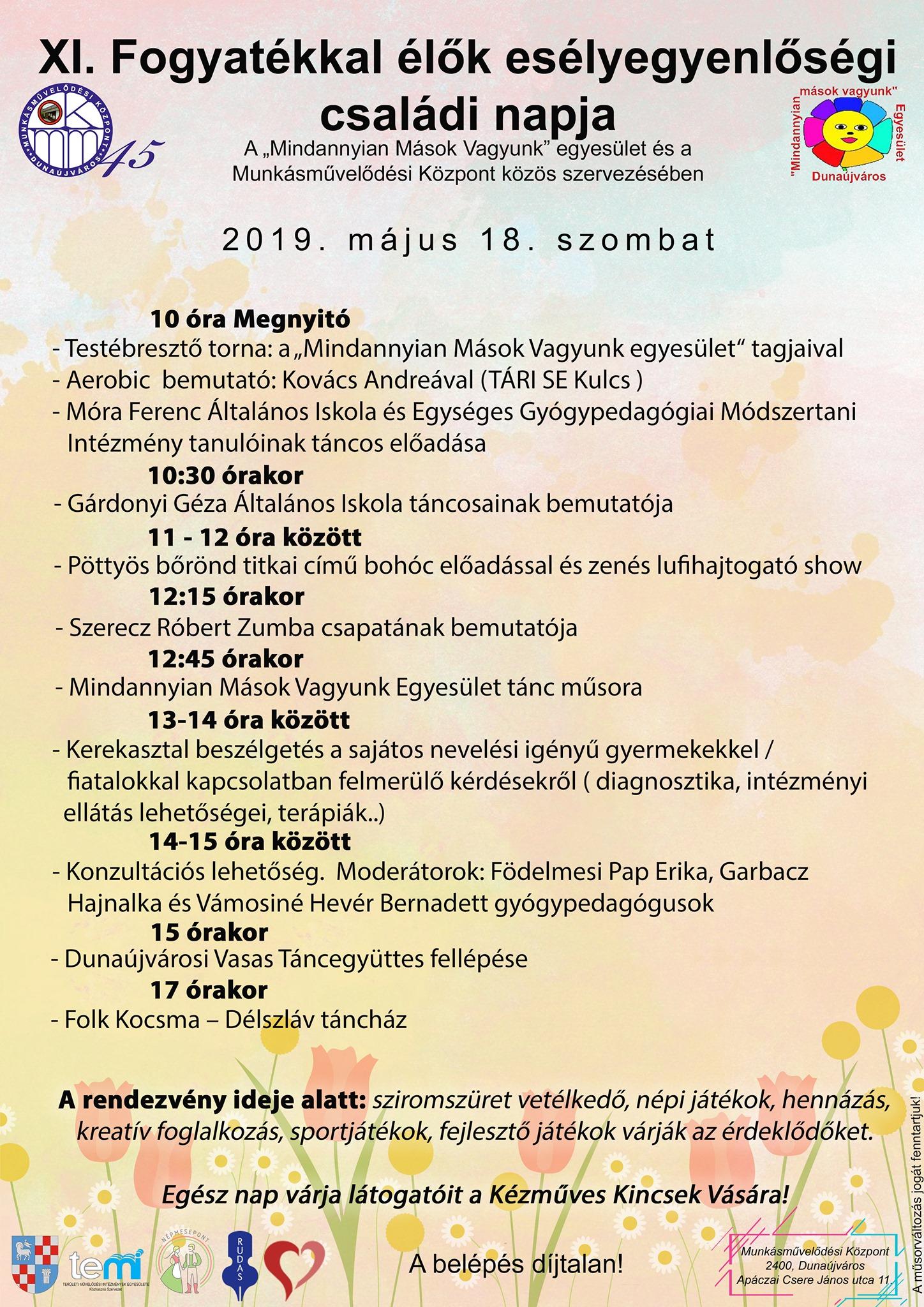 XI. Fogyatékkal Élők Esélyegyenlőségi családi napja az MMK-ban!