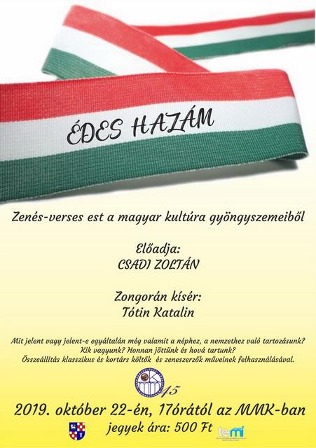 Édes Hazám - Csadi Zoltán zenés-verses estje