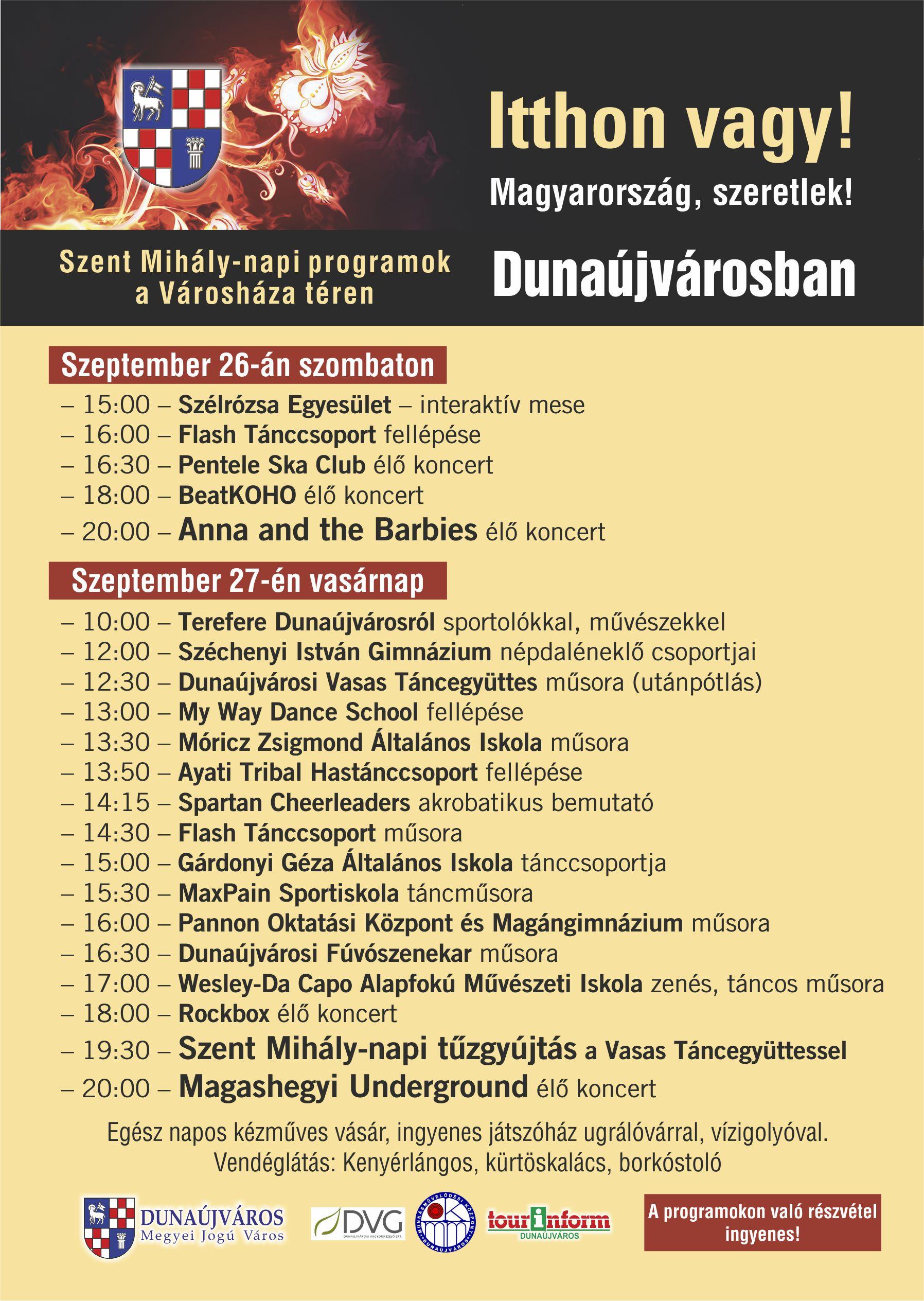 Magyarország Szeretlek! - Kétnapos rendezvény a Városháza téren!