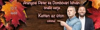 Aranyosi Péter és Dombóvári István közös estje Dunaújvárosban!