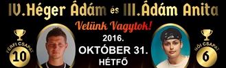 IV. Héger Ádám és III. Ádám Anita Kispályás Labdarúgó Emléktorna
