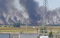 Hatalmas területen égett a szántó