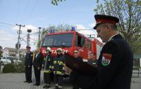 Új tűzoltóautó Mezőfalván
