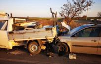 Három autó balesete Pusztaszabolcsnál
