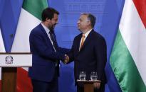 Orbán: egyetértünk Salvinivel, hogy Európa határait meg kell védeni a migránsinvázióval szemben
