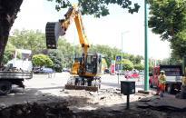 Vasmű út felújítása - Lezárás a Kossuth utcánál