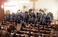 Dunaújváros Vegyeskar: szépséges koncert advent ünnepére az evangélikus templomban