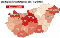 Nagyot ugrott az igazolt fertőzöttek száma Fejér megyében
