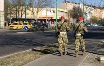 Katonai járőrök– már Dunaújváros utcáin is