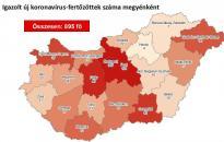 Járvány:  895 főre nőtt a fertőzöttek száma – Fejérben ismét aggasztó az emelkedés