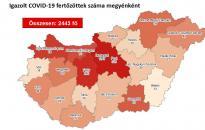 Járvány: 2443 főre nőtt a fertőzöttek száma – Fejérben is emelkedett