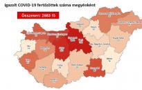 Vírus: 2583 főre nőtt a fertőzöttek száma – Fejér változatlanul vörösben