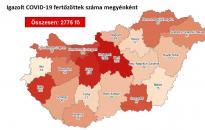 Járvány: már 2775 fő fertőzött – Fejér továbbra is a veszélyzónában
