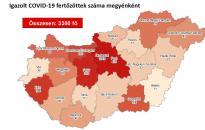 Járvány: már 3380 fő fertőzött – Fejér megyében egyetlen új beteg