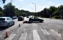 Autós és motoros ütközött