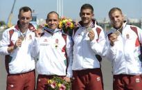 Kajak-kenu vb - Vass Andrásék bronzérmesek az 1000 méteres kenu négyesben