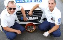 Állatkínzás - kutyák egy vödörben az autópálya szélén