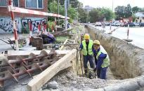 Építők útja - gázvezetéket cserél a szolgáltató