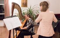 Hárfa és fuvola koncert a zeneiskolában