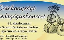 Holnap lesz a Jótékonysági Pedagóguskoncert